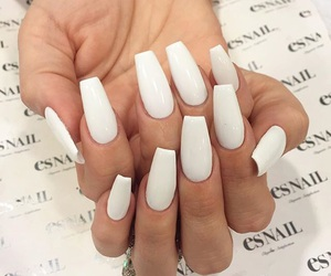 nails, blanco, and cool image