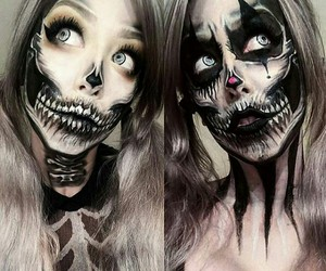 dark, Halloween, and make up image