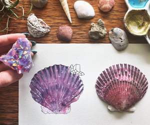 shell, art, and drawing image