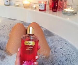 bath, legs, and Victoria's Secret image