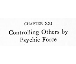 control, power, and psychic image