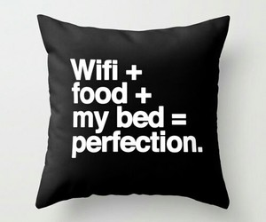 black, pillow, and wifi image