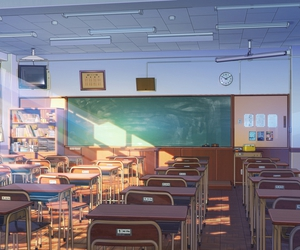 anime, japanese, and school image