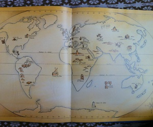 fantasy, old, and map image