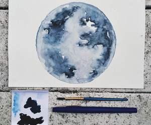 amazing, blue, and painting image