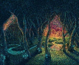 art, drawing, and trippy image