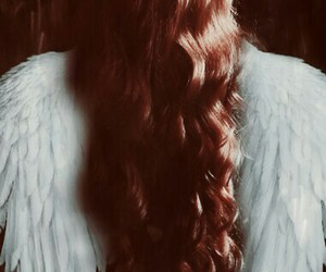 asas, red hair, and wings image
