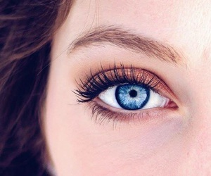 blue, lashes, and look image