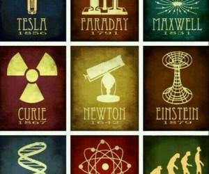 science, einstein, and newton image