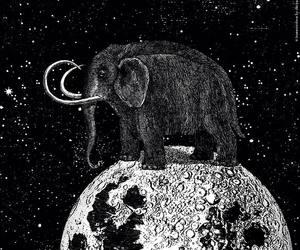art, Collage, and elephant image