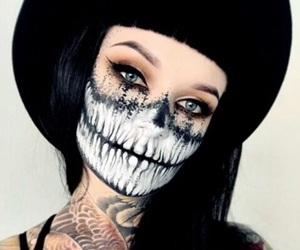 Halloween, girl, and makeup image