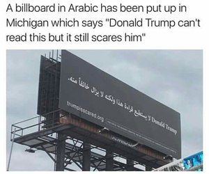 arabic, funny, and donald trump image
