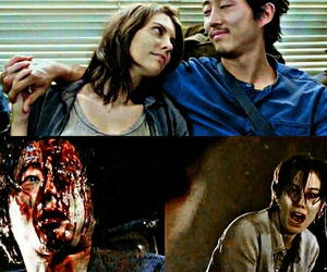 glenn, Maggie, and the walking dead image
