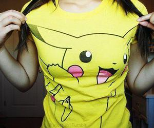 pikachu, girl, and pokemon image