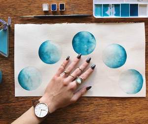 art, drawing, and moon image