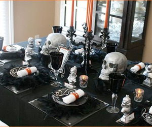 Halloween, decor, and gothic image