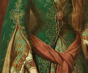 detail, painting, and dress image