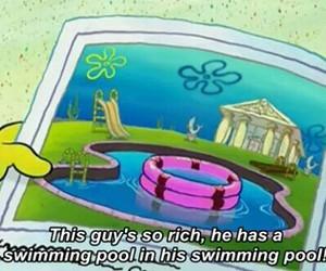 spongebob, funny, and pool image