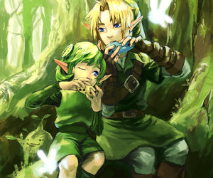 green, Legend of Zelda, and music image
