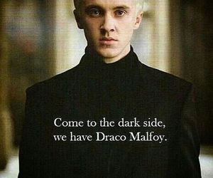 dark side, draco malfoy, and harry potter image