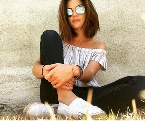 chanel, sunglasses, and lucy hale image