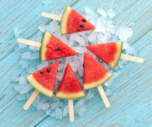 summer, watermelon, and food image