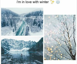 in love, snow, and winter image