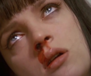 pulp fiction, blood, and movie image