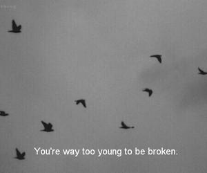 broken, sad, and young image