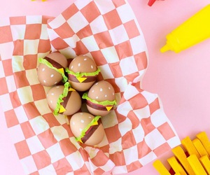 burger, easter, and eggs image