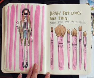 wreck this journal, makeup, and pink image
