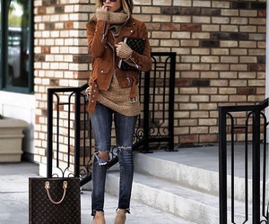 outfit, bag, and fall image