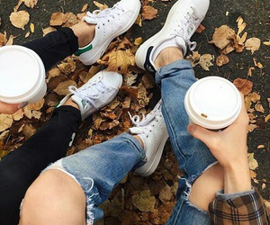 style, autumn, and coffee image