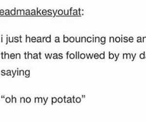 funny and potato tumblr post image