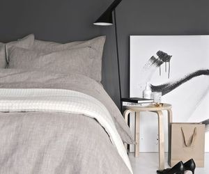 bedroom, minimal, and white image