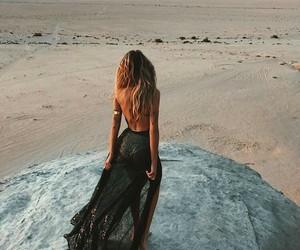 beach, natural, and hair image