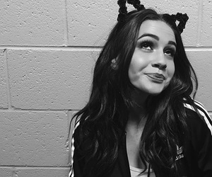 bea miller and black and white image
