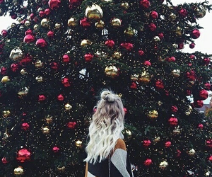 christmas, girl, and hair image