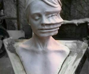 art, grunge, and statue image