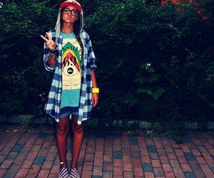 girl, fashion, and swag image
