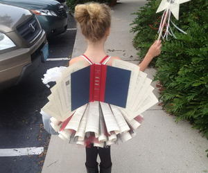 book, girl, and fairy image
