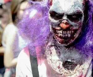 clown, creepy, and Halloween image