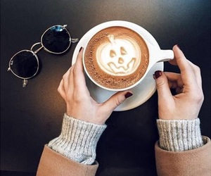 coffee, autumn, and pumpkin image