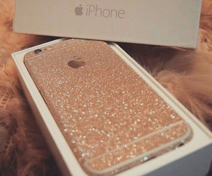 glitter, iphone, and gold image