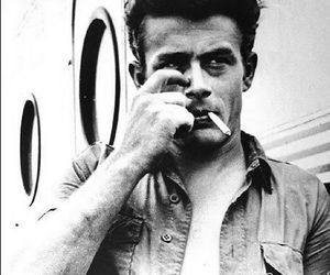 james dean, actor, and cigarette image