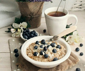 blueberry, breakfast, and healthy image