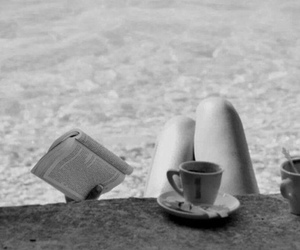 coffee, reading, and book image