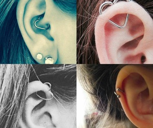 heart, piercing, and oreja image