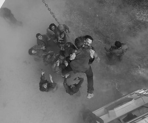 scary, stunt, and walkers image