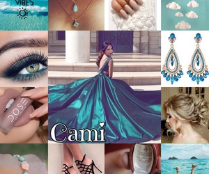 beautiful, azul, and big dress image